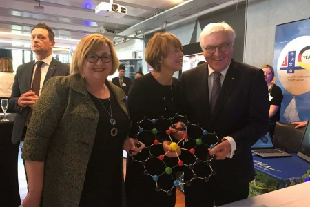 MacDiarmid researchers celebrate 40 years of Germany/NZ science co-operation with German President Steinmeier