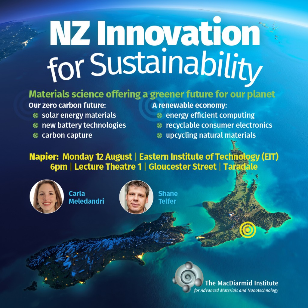 NZ Innovation for Sustainability - Napier (12 August)