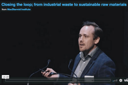 From industrial waste to sustainable raw materials