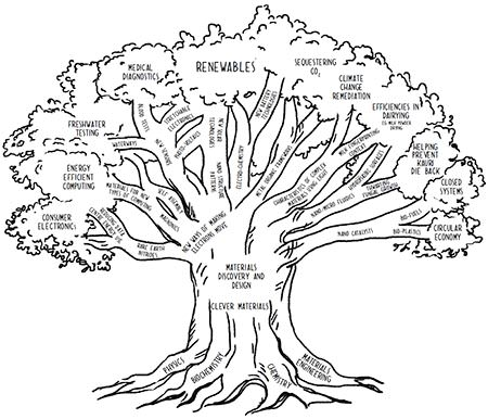 Diagram showing the branches of our research