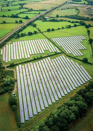 Fields full of solar panels
