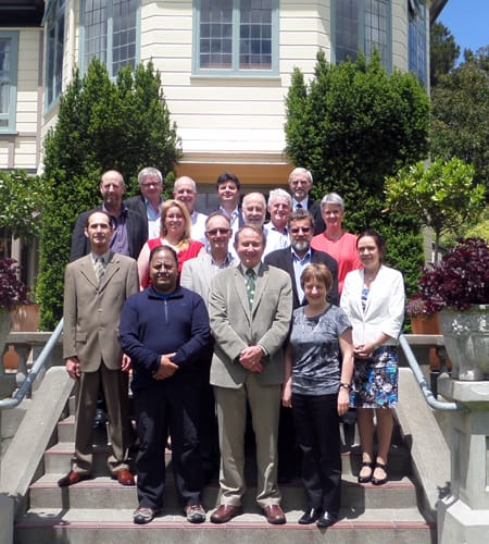 Dr Steve Thompson (front, centre) with the Board at their final meeting of 2014.