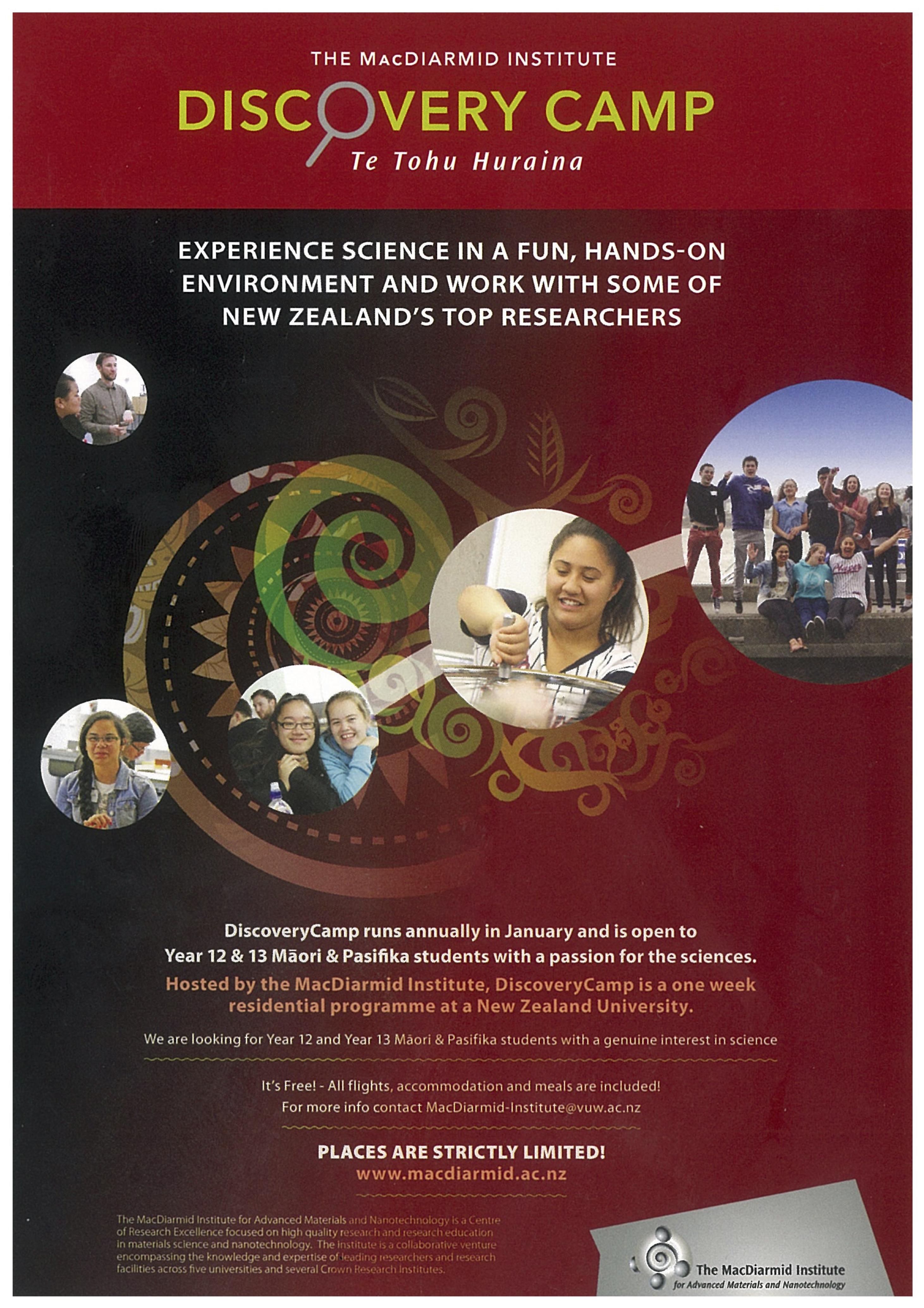 DiscoveryCamp – Te Tohu Huraina