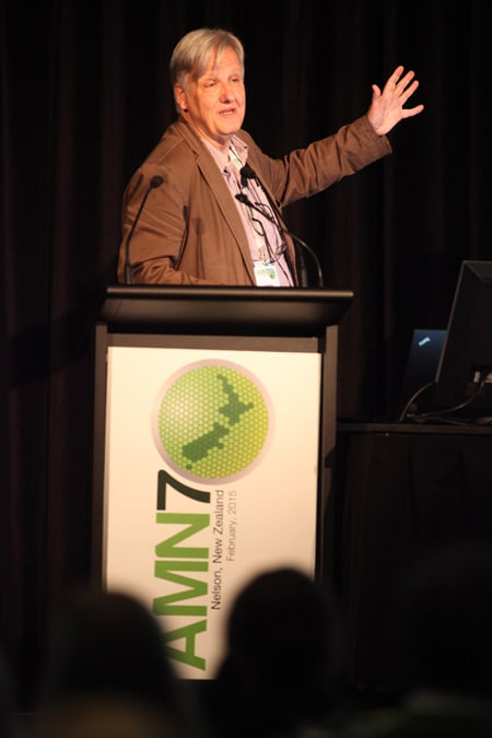 Picture by Tim Cuff - AMN-7 Conference, Nelson: speaker Laurens Molenkamp