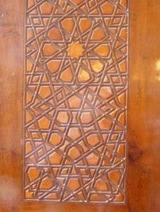 Wooden door on the Blue Mosque